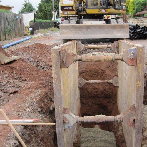 Für den Mischwassersammler kamen HS®-Kanalrohre mit einer Baulänge von 3 m sowie der CONNEX-Anschluss von Funke zum Einsatz.  Foto: Funke Kunststoffe GmbH