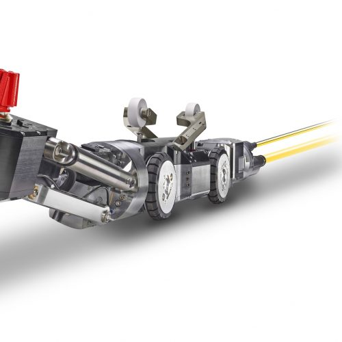 Der MicroGator ist ein elektrischer Fräsroboter für den Einsatz in Rohren ab DN 200-Rohren (insbesondere in schlauchlinersanierten oder durch Muffenversätze verengten Rohren). Foto: IBAK Robotics GmbH