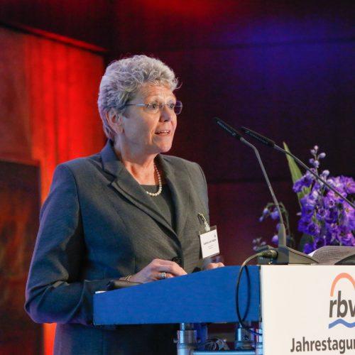 rbv-Präsidentin Gudrun Lohr-Kapfer bei ihrer Abschiedsrede. Foto: rbv