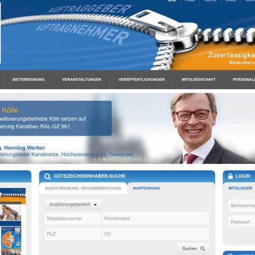 www.kanalbau.com: Auftraggeber in Deutschland zeigen Flagge, wenn es um qualifiziertes und nachhaltiges Arbeiten im Kanalbau geht. Abbildung: Güteschutz Kanalbau