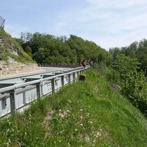 Das für die Steinenkircher Steige gewählte Konzept mit dem Einsatz von Gabionen wurde in der Region um Geislingen bereits mehrfach erfolgreich umgesetzt. Foto: thyssenkrupp Infrastructure
