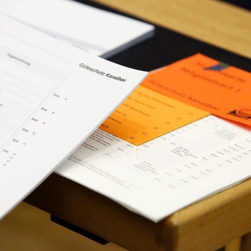 Wahlen und Abstimmungen zählen zu den wichtigen Tagesordnungspunkten auf der Mitgliederversammlung in Düsseldorf. Foto: Güteschutz Kanalbau