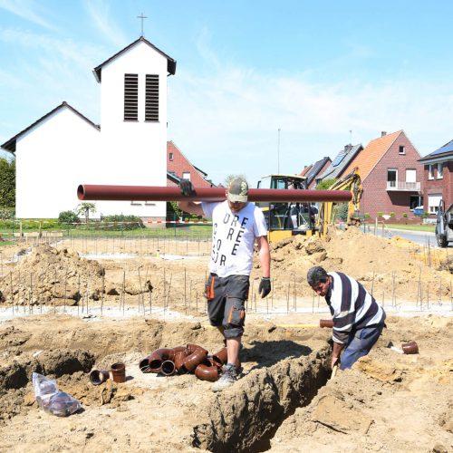 Funke hat das HS®-Kanalrohrsystem erweitert und für die Grundstücksentwässerung sinnvoll ergänzt: Neben der Nennweite DN/OD 160 ist das System ab sofort auch in den Nennweiten DN/OD 110 und DN/OD 125 erhältlich. Foto: Funke Kunststoffe GmbH