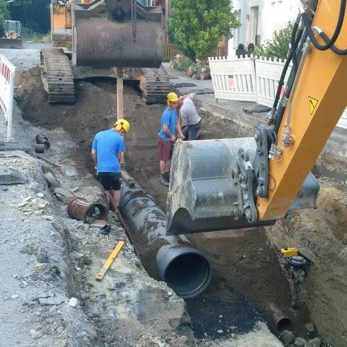 Bei der Erneuerung der Sammler setzte die Stadt Sendenhorst auf CONNEX- und HS®-Rohre von Funke.    Foto: Funke Kunststoffe GmbH
