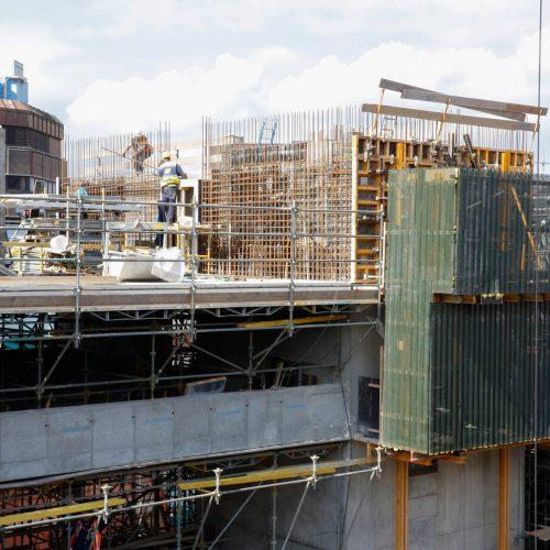 Gelungene Premiere in Utrecht: Bei der Erstellung der Gebäudekerne wurde die RSK-Kletterschalung von ULMA erstmals in den Niederlanden eingesetzt. Foto: ULMA