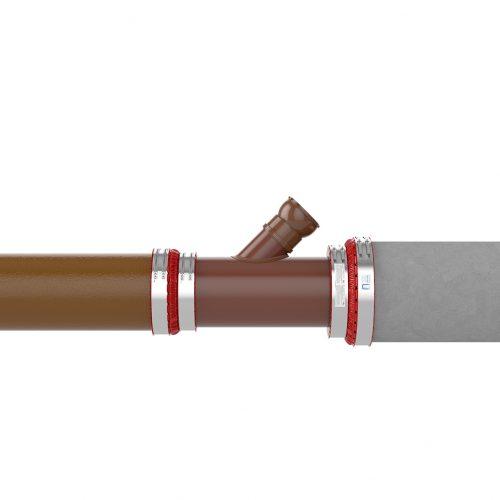 Der Reparaturabzweig von Funke ist eine leichte und schnell zu montierende Lösung für defekte Rohre aus Steinzeug oder Beton. Foto: Funke Kunststoffe GmbH