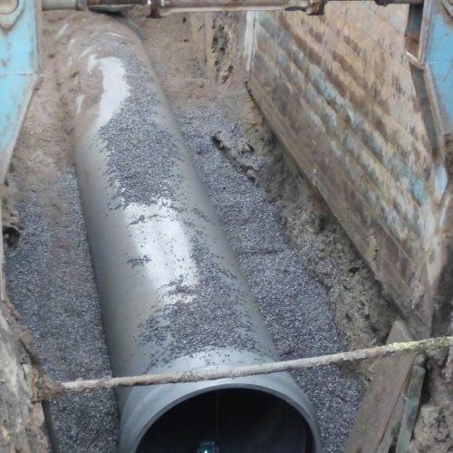 Auf einer Länge von rund 670 m wurde der alte Mischwasserkanal durch CONNEX-Kanalrohre in Nennweitenbereichen von DN/OD 315 bis DN/OD 800 ersetzt. Foto: Funke Kunststoffe GmbH