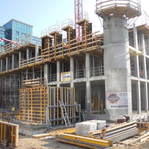Bei der Erstellung neuer Bürogebäude im Gewerbegebiet Süd von Eschborn setzte das ausführende Unternehmen auf Schalungssysteme und Dientstleistungen von ULMA. Foto: ULMA