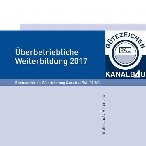 """Die Broschüre """"Überbetriebliche Weiterbildung"""" kann von Gütezeicheninhabern im Login-Bereich für Mitglieder abgerufen werden. Foto: Güteschutz Kanalbau"""