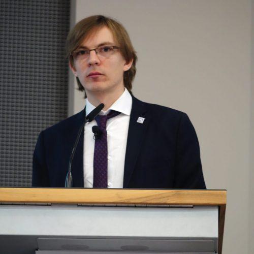 Georg Helbig beleuchtete rechtliche Aspekte der Digitalisierung. Foto: Rohrleitungsbauverband