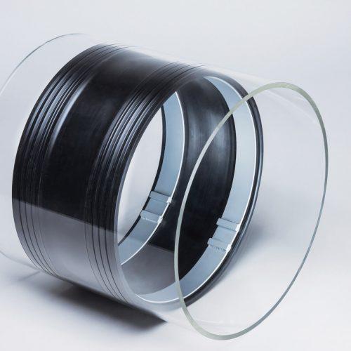 RedEx® ist eine Innendichtmanschette für begehbare Rohrleitungen mit Nennweiten DN 800-6000. Sie ist auch als Linerendmanschette mit Nennweiten von DN 190-1200 einsetzbar.  Foto: Pipe-Seal-Tec