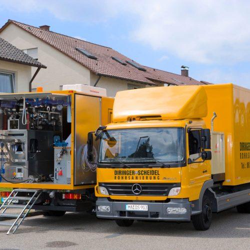 Innerhalb von acht Tagen sanierten die Experten von der D&S Rohrsanierung neun Überlauflaufleitungen eines Hochbehälters im Frankfurter Nordend.  Foto: DIRINGER & SCHEIDEL ROHRSANIERUNG