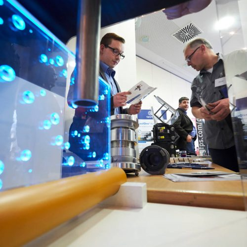 Hightech und Handwerk zogen Teilnehmer gleichermaßen an. Foto: Rohrleitungsbauverband