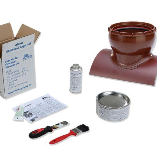 Beim HS-Klebesattel ist ein 2-Komponenten-Kleber im Lieferumfang enthalten. Foto: Funke Kunststoffe GmbH