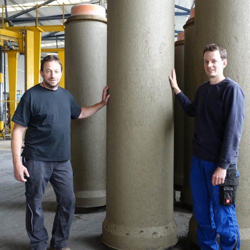 Stefan Fasel (li.) und Fabian Fasel, bilden zusammen mit Thomas Fasel als Geschäftsführer die Führungsspitze der Gebr. Fasel Betonwerk GmbH.  Foto: Gebr. Fasel Betonwerke GmbH