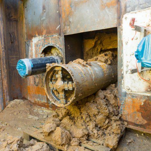 E-Power Pipe® Premiere: neue Technologie für Erdkabelverlegung (Borken, DE). Foto: Herrenknecht AG