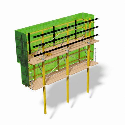 Die RKS-Kletterschalung basiert auf dem MK-System, das aufgrund seiner Anpassungsfähigkeit an die Gebäudegeometrie vielfältig einsetzbar ist.  Fotos: ULMA
