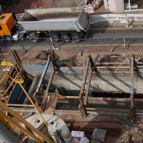 Der Einsatz des Linearverbausystems trug dazu bei, dass das neue Regenüberlaufbecken trotz beengter Verhältnisse auf dem innerstädtischen Baufeld reibungslos und fristgerecht hergestellt werden konnte. Foto: thyssenkrupp Infrastructure