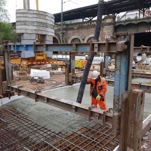 Abschließende Betonage der Decke. Foto: thyssenkrupp Infrastructure