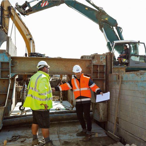 Die Qualifikation des Personals trägt zur Sicherheit auf den Baustellen bei und führt zur geforderten Ausführungsqualität. Foto: Güteschutz Kanalbau