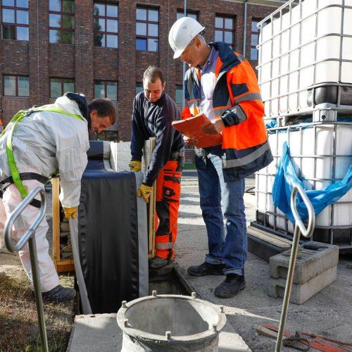 Qualität sichern vor Ort: Mit einem Instrument wie der RAL-Gütesicherung Kanalbau verfolgen Auftraggeber, Ingenieurbüros und Bauunternehmen das gemeinsame Ziel, die Qualität im Kanalbau zu verbessern.  Foto: Güteschutz Kanalbau