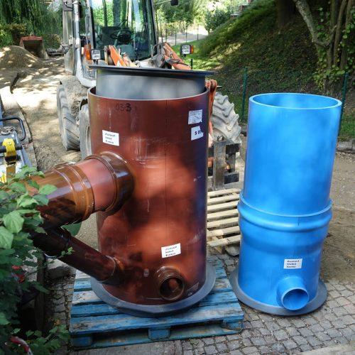 Vergleichsweise leicht und dennoch äußerst stabil: Die HS®-Kontrollschächte haben die Baubeteiligten überzeugt. Foto: Funke Kunststoffe GmbH