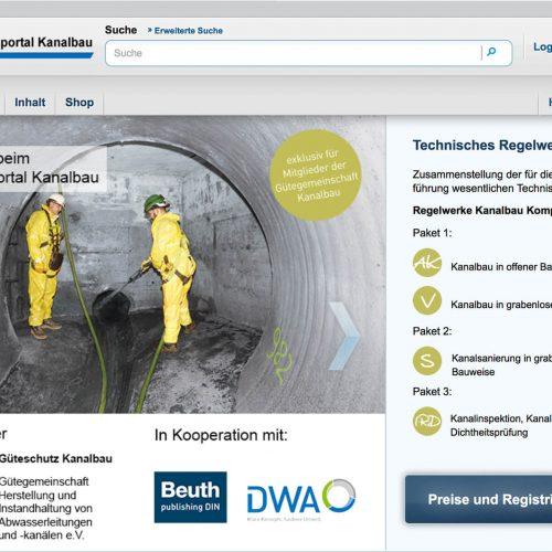 AKADEMIE KANALBAU: Die Online-Plattform bietet Mitgliedern der Gütegemeinschaft Kanalbau eine Zusammenstellung der für die Bauausführung wesentlichen Technischen Regeln. Foto: Güteschutz Kanalbau