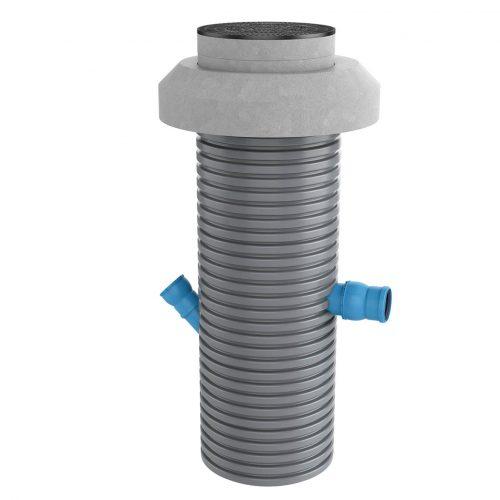 Der Funke Filterschacht® hat inklusive der Abdeckplatte eine Gesamthöhe von ca. 3,20 m.  Foto: Funke Kunststoffe