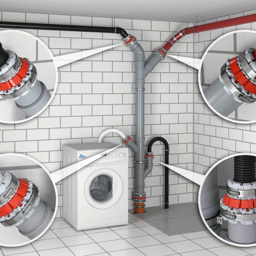 Die Funke FHS-Kupplung® ist sowohl innerhalb als auch außerhalb von Gebäuden einsetzbar. Foto: Funke Kunststoffe