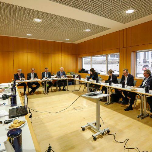 Eine überaus große Zahl an Redakteuren namhafter deutscher Baufachmedien war der Einladung zum Jahresgespräch des rbv gefolgt. Foto: Rohrleitungsbauverband