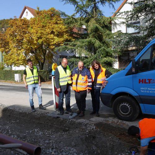 Der schnelle Baufortschritt auf der Baustelle an der Eisenbahnstraße sorgte dafür, dass der enge Zeitplan eingehalten werden konnte. Foto: Funke Kunststoffe GmbH