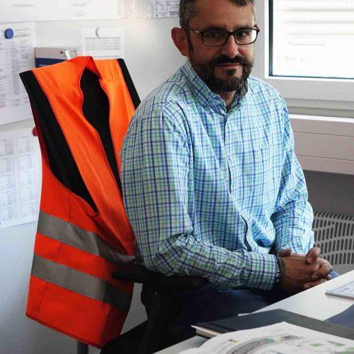 Dipl.-Ing. (FH) Markus Osterwald, Leiter Gleisbau der Projektrealisierungs GmbH U5 Foto: thyssenkrupp Infrastructure