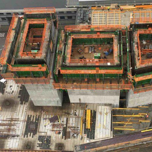 Das WTC Utrecht wuchs Geschoss um Geschoss rund 70 m in die Höhe. Foto: ULMA