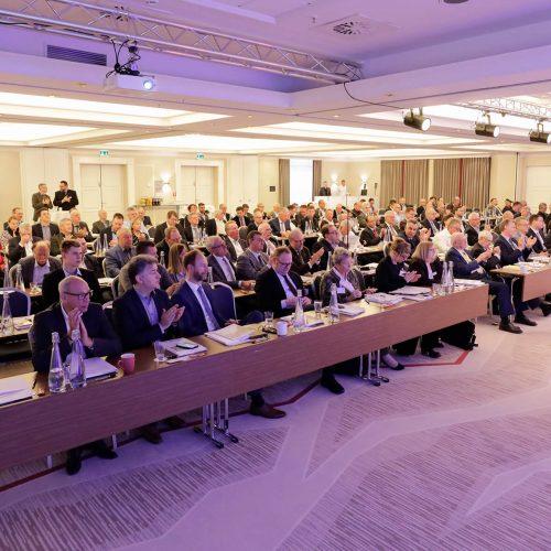 Die Mitgliederversammlung des Rohrleitungsbauverbandes e. V. fand in diesem Jahr am 5. April 2019 in München statt. • Foto: rbv