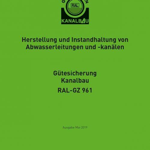 Die Güte- und Prüfbestimmungen RAL-GZ 961 werden vom Güteausschuss in Anpassung an den technischen Fortschritt sukzessive weiterentwickelt. Abb.: Güteschutz Kanalbau