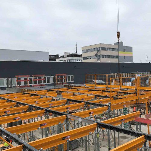 Ein besonderes Highlight der Bautätigkeiten in Gerlingen bestand in einem zeitlich begrenzten Pilot-Einsatz des neuen Schalungssystems CC-4 Protect. Foto: ULMA Construction