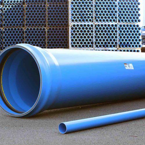 Das HS®-Kanalrohrsystem wird in Nennweiten von DN/OD 110 bis DN/OD 800 produziert. Foto: Funke Kunststoffe