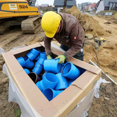 Das HS®-Kanalrohrsystem bietet für (fast) alle Anforderungen im Rohrgraben eine passende Lösung. Foto: Funke Kunststoffe