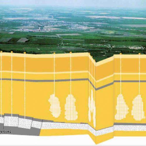 Weltneuheit: Energiespeicherung von Wasserstoff in Kavernen: Kavernenspeicher Bad Lauchstädt: Die aus einer 500 Meter dicken Salzschicht ausgesolten Kavernen befinden sich in einer Teufe zwischen 765 und 925 Metern.  Foto: © VNG Gasspeicher GmbH