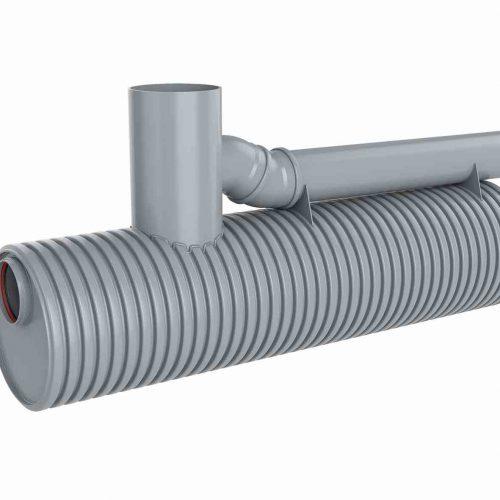 Die Funke Sedimentationsanlage weist eine Höhe von nur ca. 2.200 mm und eine Länge von ca. 4.200 mm auf und ist für eine Anschlussfläche von bis zu 5.000 m² geeignet.  Foto: Funke Kunststoffe