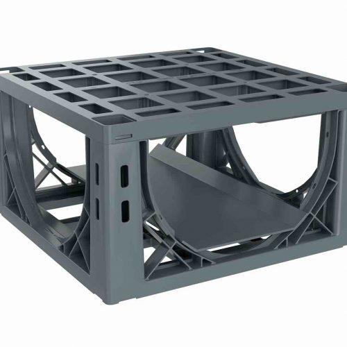 Eine Rigole aus D-Raintank 3000 smallbox®–Elementen ist kamerabefahrbar und spülbar. Foto: Funke Kunststoffe