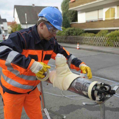Vorbereitung Hutprofilsanierung. Foto: Rainer Kiel Kanalsanierung GmbH
