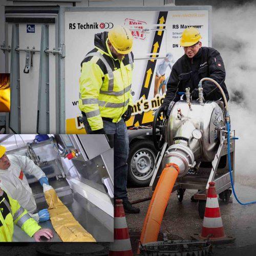 Das RS MaxLiner® System der RS Technik AG für die grabenlose Sanierung von Hausanschlussleitungen, Sammelleitungen und Inhouse-Leitungen – jeweils mit entsprechender DIBt-Zulassung und einer Auswahl hochwertiger Technik und Materialien. Foto: RS TECHNIK AG