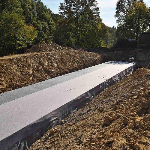 Der fertig verpackte D-Raintank® wurde in nur drei Tagen gebaut. Foto: Funke Kunststoffe GmbH