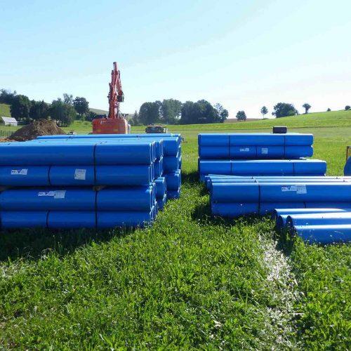 Den Erschließungsarbeiten im Baugebiet Kirlesberg Ost liegt ein umfangreiches Konzept zur Regenwasserentwässerung zugrunde.  Foto: Funke Kunststoffe GmbH