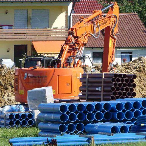 Das Baugebiet Kirlesberg Ost liegt am südöstlichen Ortsrand von Röfingen. Auch unter Aspekten der Nachhaltigkeit entschied sich die Gemeinde für HS®-Kanalrohre von Funke. Foto: Funke Kunststoffe GmbH