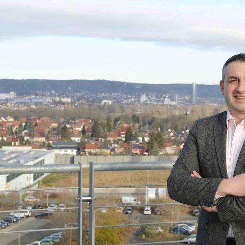Gunar Schmidt, Geschäftsführer der Stadtwerke Jena Netze GmbH. Foto: Gütegemeinschaft Kanalbau