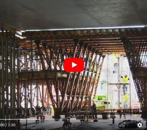 """Screenshot YouTube-Video """"Tunnelfertigung nach Maß mit ULMA MK-Schalwagen"""" Quelle: ULMA Construction"""