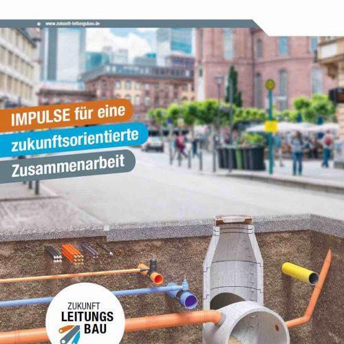 """Initiative """"Zukunft Leitungsbau"""": Erste Maßnahmen für eine verbesserte Interaktion im Bausektor wurden in der Broschüre """"Impulse für eine zukunftsorientierte Zusammenarbeit"""" und auf der Website www.zukunft-leitungsbau.de zusammengestellt. Abbildung: Initiative """"Zukunft Leitungsbau"""""""