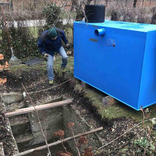 Einbau der KS-Bluebox®. Foto: Funke Kunststoffe GmbH